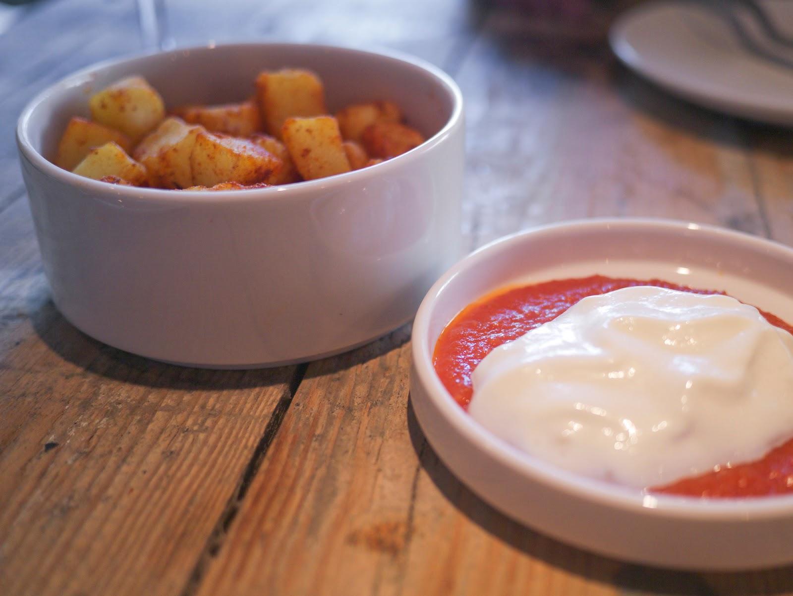 Bravas Tapas restaurant St Katherine Docks London patatas bravas