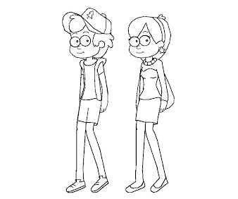 #2 Dipper Pines Coloring Page