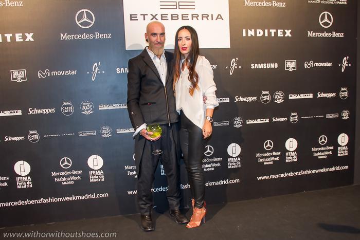 blogger de moda española en los desfiles de la semana de la moda de madrid