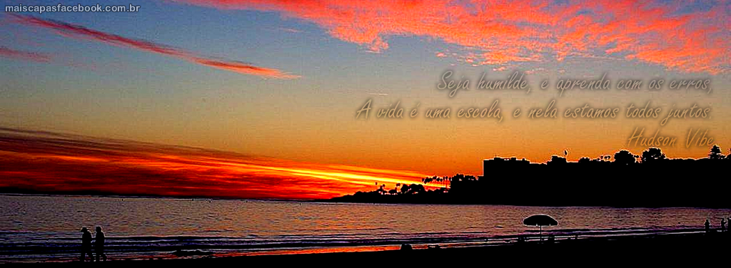 146 capa para facebook por do sol na praia com frase