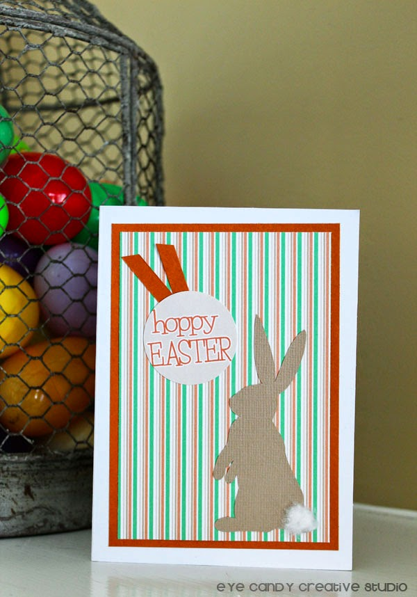 hoppy Easter, card making ideas, easter crafts, Silhouette project
