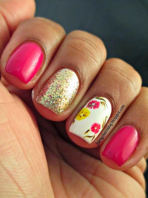 duo accent nail art