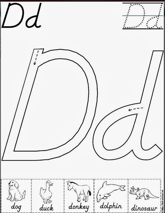 A Bountiful Love Letter Of The Week Dd Coloring Letter Dd