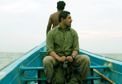 John Abraham in Shoojit Sircar's Madras Cafe, undercover RAW agent, escapes in a boat