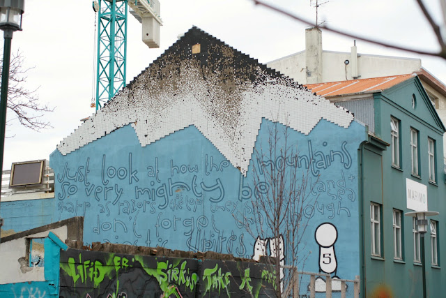 There are a lot of buildings in Reykjavik that have murals/graffiti - where do they come from?!
