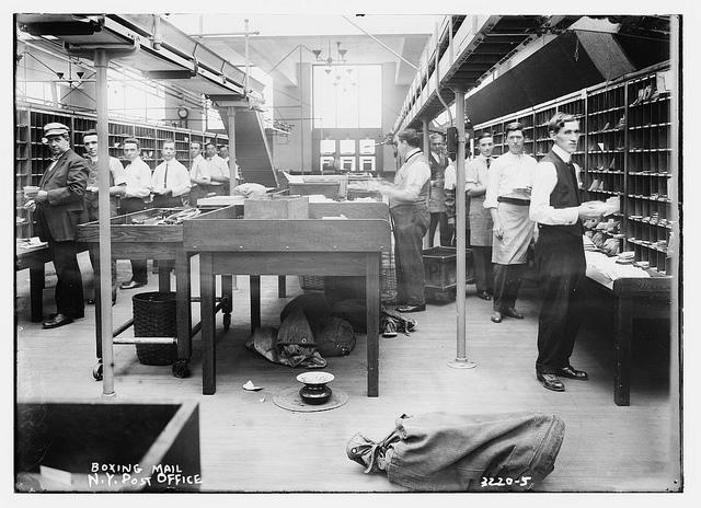 Postsorteringen, New York ca 1910-15