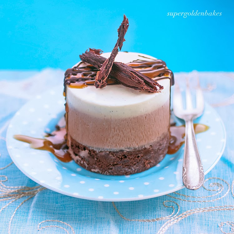 Triple chocolate mousse cake supergolden bakes