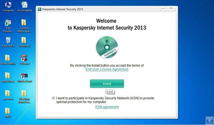 Install Antivirus Kaspersky 2013
