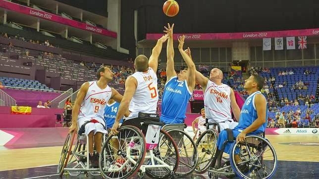 El equipo paralímpico español de baloncesto