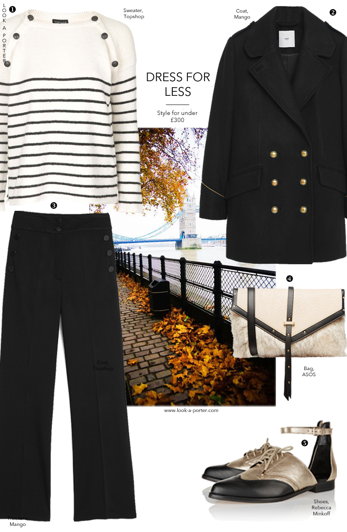 Military meets nautical, in black and gold... www.look-a-porter.com