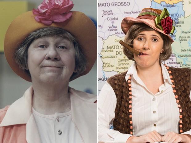 Nova Escolinha do Professor Raimundo Dani Calabresa interpreta Dona Catifunda, papel que foi de Zilda Cardoso (foto: divulgação)