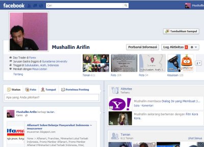 Tampilan Facebook Timeline imuzcorner