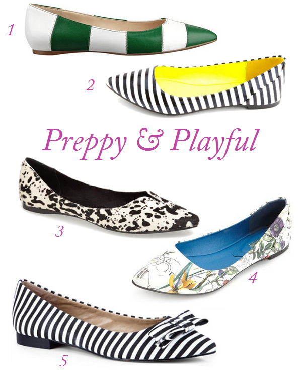 Pointy Toe Flats, Striped Flats, Floral Print Flats, Striped Shoes, Pointy Toe flat trend, Spring Flats, Shoe For Spring, Best Shoes For Summer, Top Shoe Trends For Spring