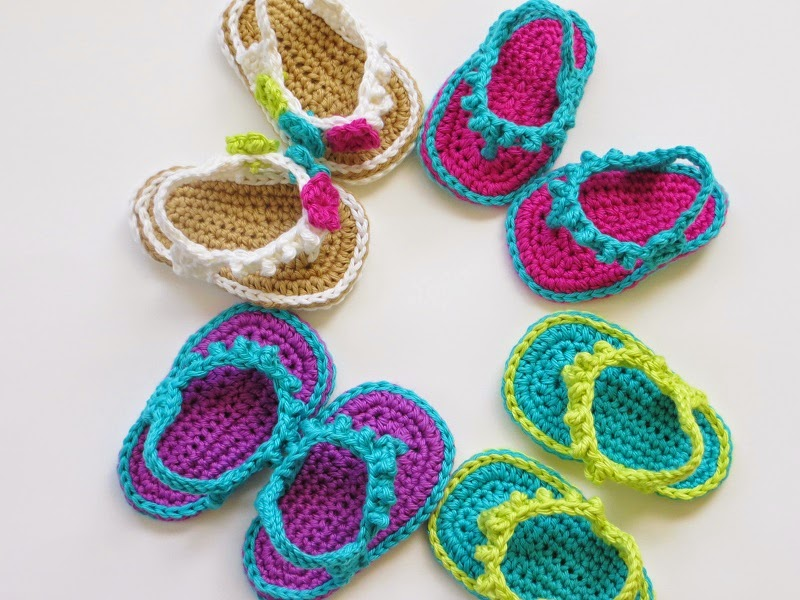 Crochet Flip Flops Pattern (pdf pattern for sale), in English and ...