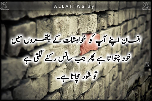 Jab Sans Ruknay Lagti Ha Tou - Best quotes On Wishes, Nice Lines