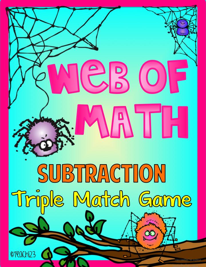 Spider:  Math Game
