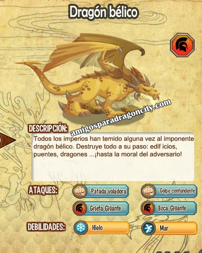 imagen de dragon war y sus caracteristicas