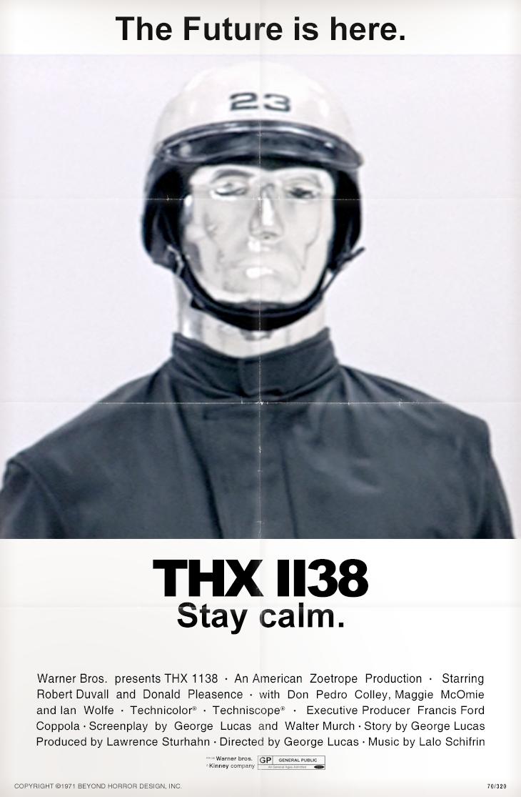 Affichons les affiches Beyonds+THX+1138+poster