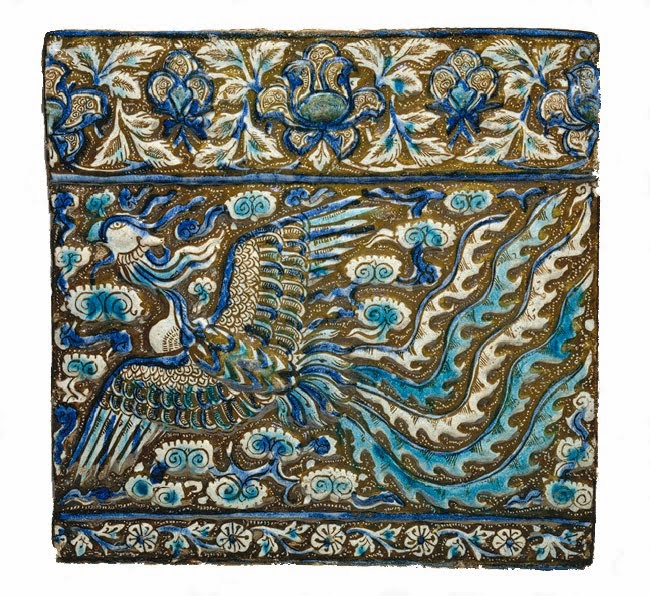 13th c. tile with Phoenix