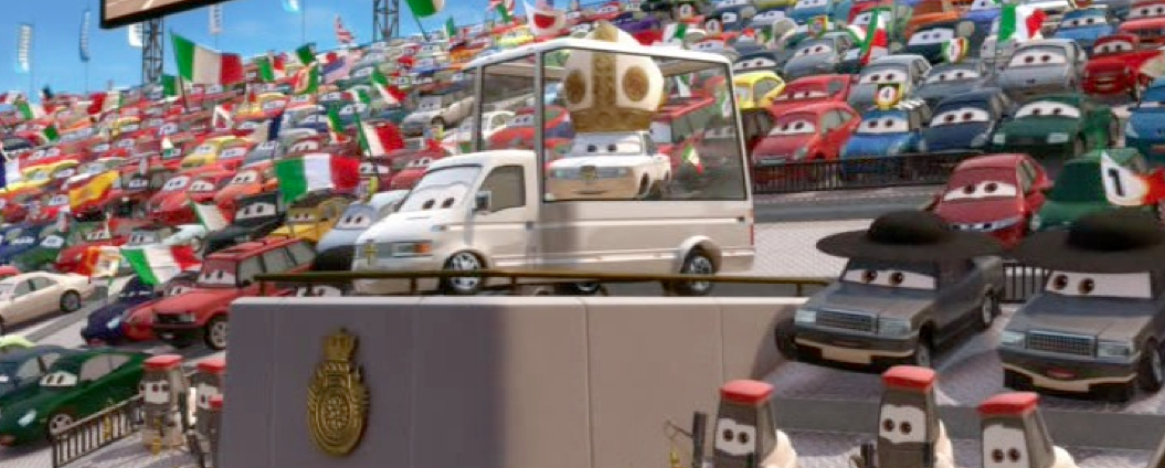 Dan The Pixar Fan Cars 2 Pope Pinion Iv