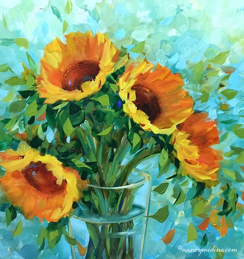 https://nancy-medina-82sz.squarespace.com/available-paintings/blue-fire-sunflowers