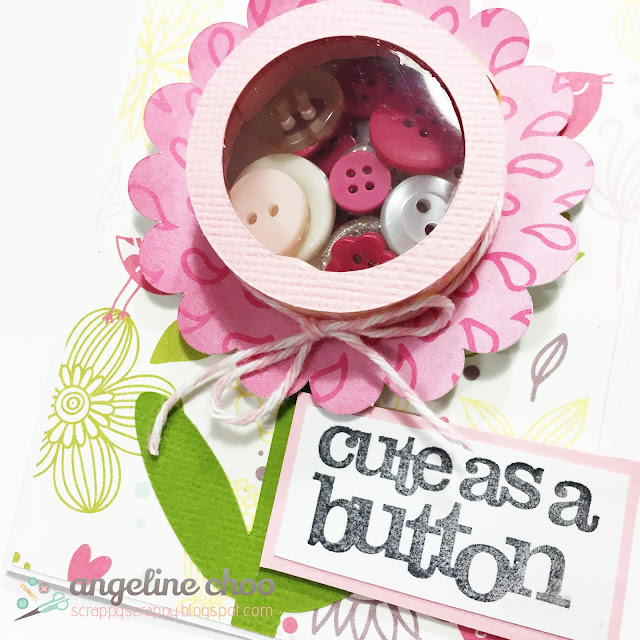 ScrappyScrappy: Cute as a button [treat cup card] #scrappyscrappy #thecuttingcafe #diecut #cutfile #card #treatcup