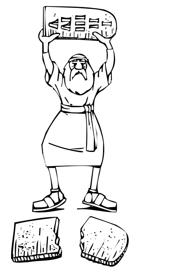 Moses And The 10 Commandments Coloring Pages