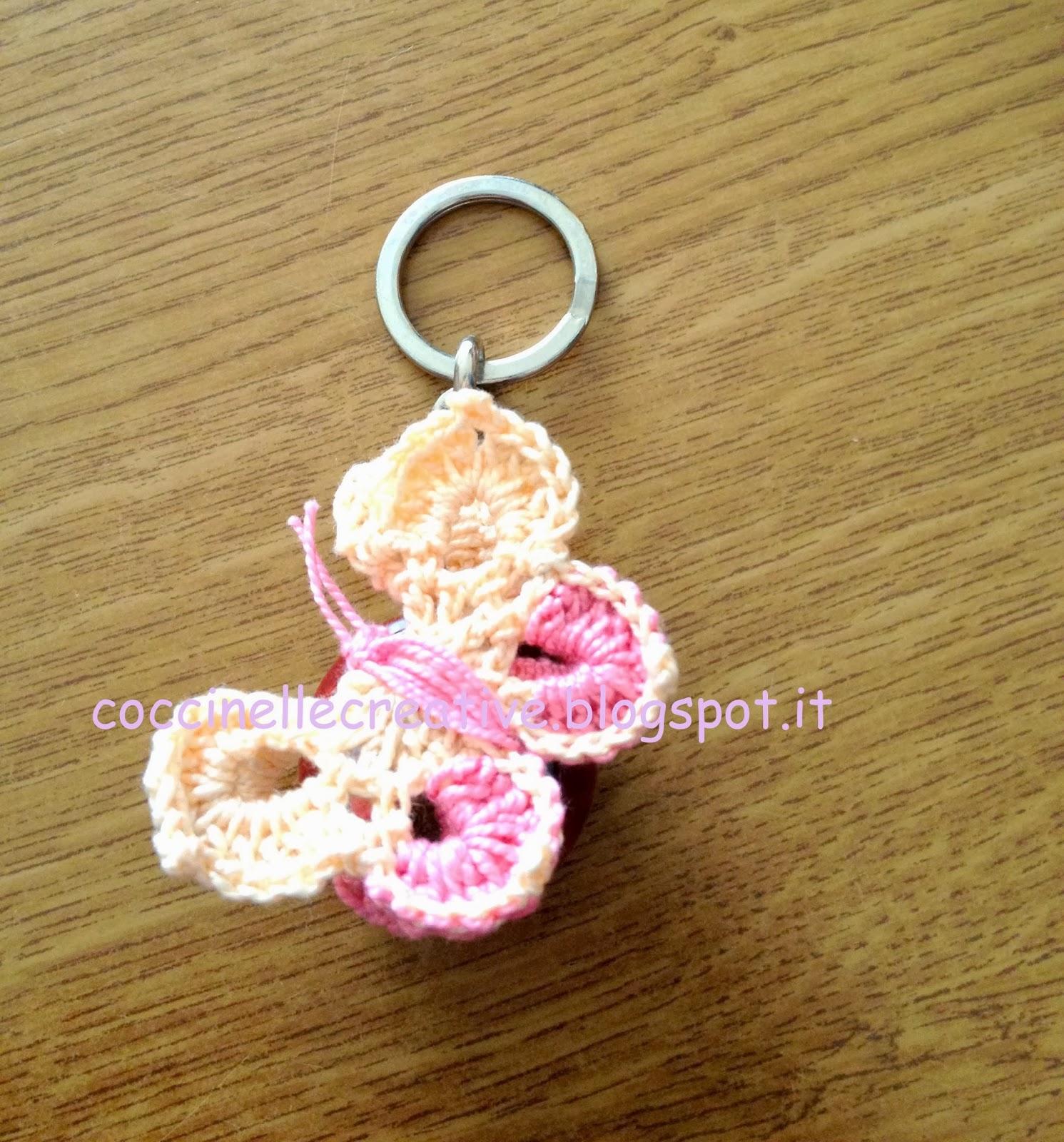 Farfalla 3D realizzata a uncinetto con schema. ~ Piccole coccinelle