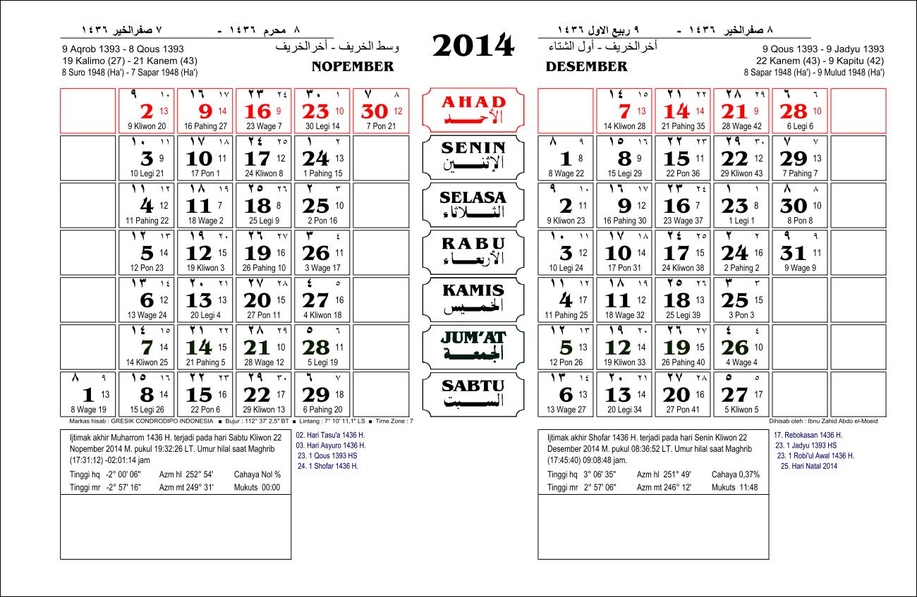 kalender jawa tahun 2014