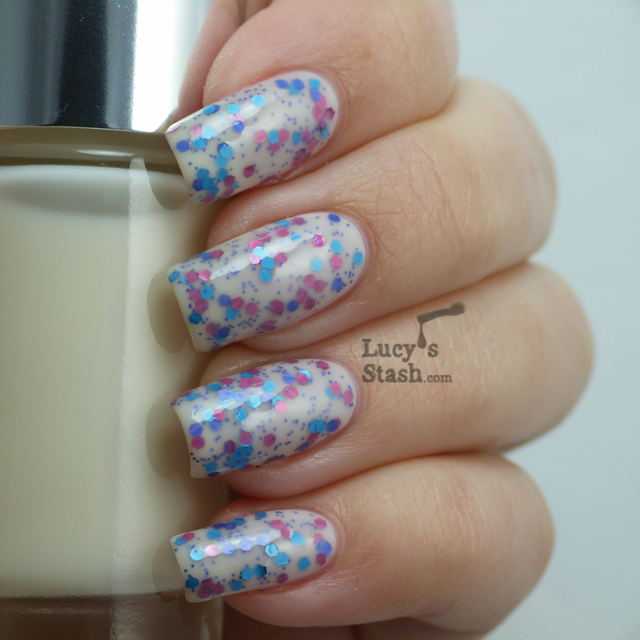 Lucy's Stash - Jelly sandwich combo with Clinique 01 Call My Buff and OPI Polka.com