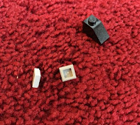 A sure fire way to recover from one of those days | Morgan's Milieu: Lego, buried in a red carpet = ouch!