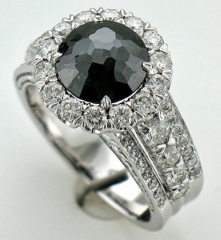 Carat Black diamond ring