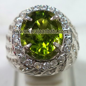 Cincin Green Peridot + Memo GRI Lab