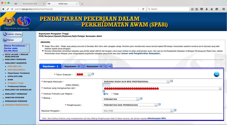 Cara Nak Isi Borang Spa Suruhanjaya Perkhidmatan Awam Versi 2018