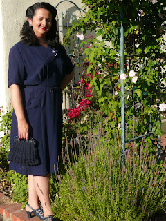 vintage 40s dress by Lady by Choice
