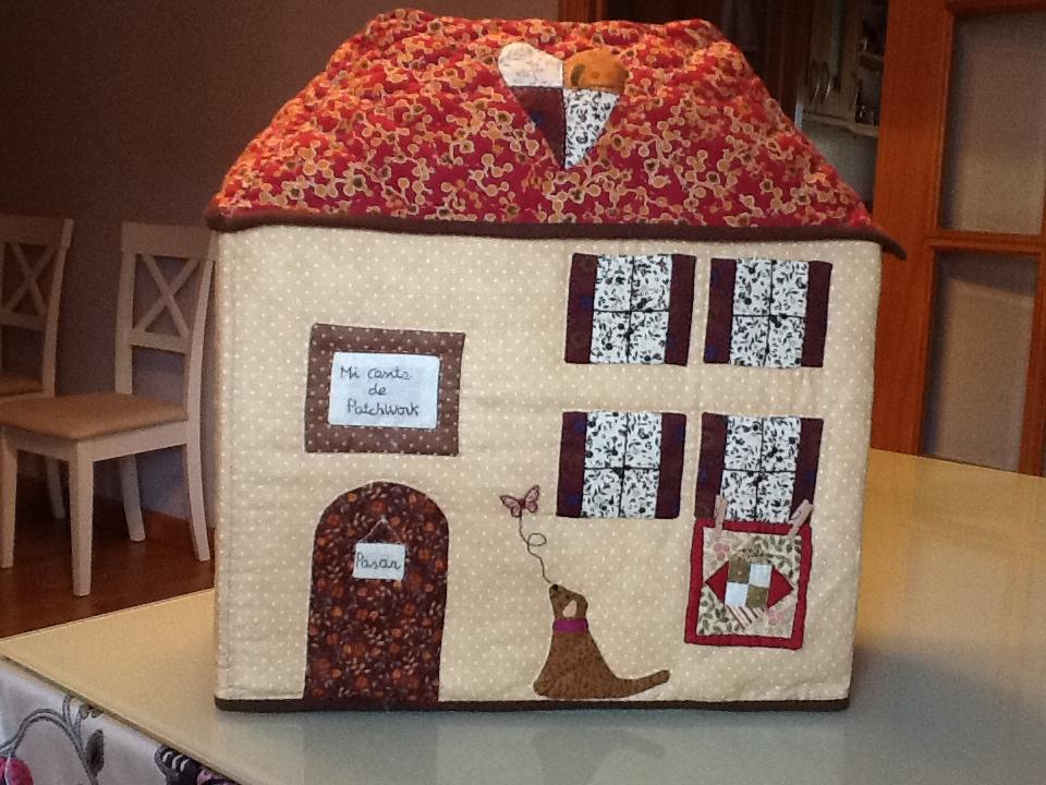 Costura con caf las fundas de las maquinas de coser de - Patrones casas patchwork ...