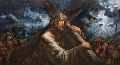 Isus i-a crucea pe umeri - by Anatoly Shumkin