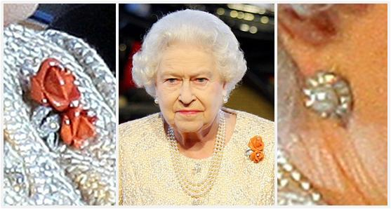 Also Note We Have A Longer Version Of Her Traditional Triple Strand Pearls And Earrings From Queen Alexandra