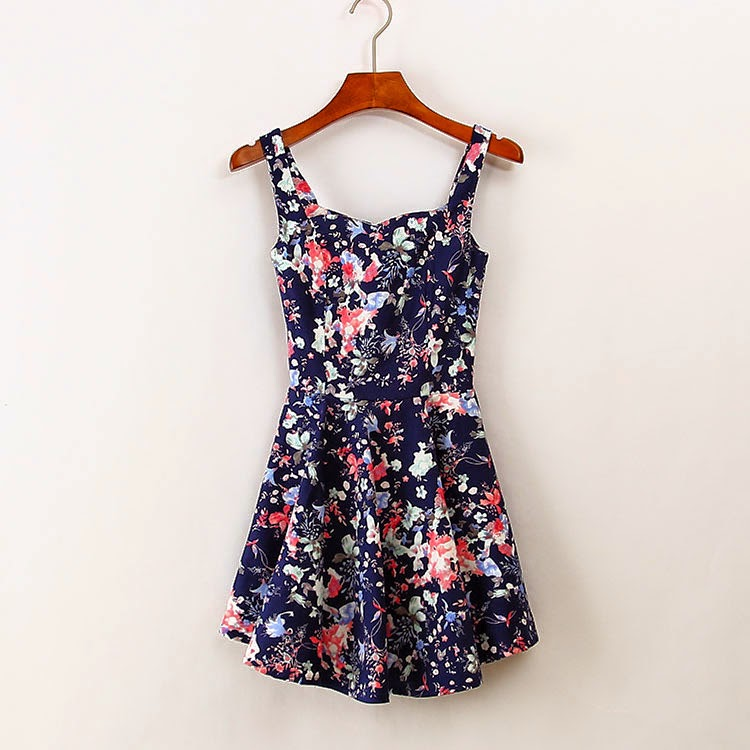 Wish Shopping Made Fun Vintage Pleated Floral Print Dress
