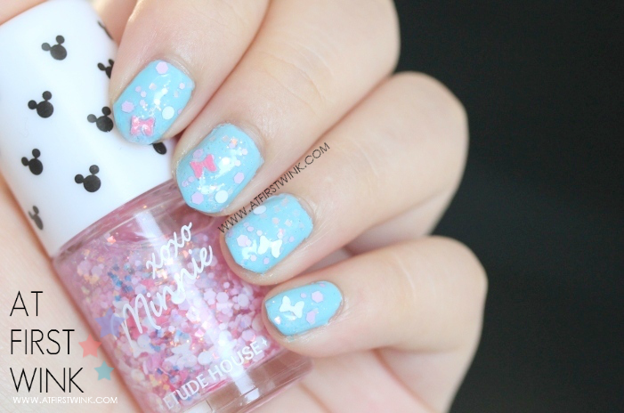 Etude House xoxo Minnie nail polish 04 - Minnie Pink Ribbon from far