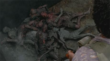 Zombis quemados The Walking Dead 3x14 - Prey