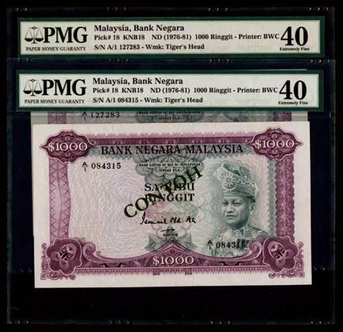 Sa Ribu Ringgit Malaysia Notes In Mavin Auction