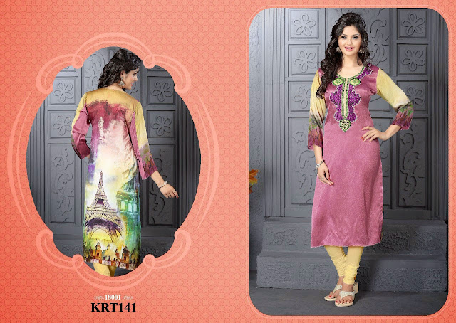 New Arrival Satin Digital Printed Kurti – Supplier