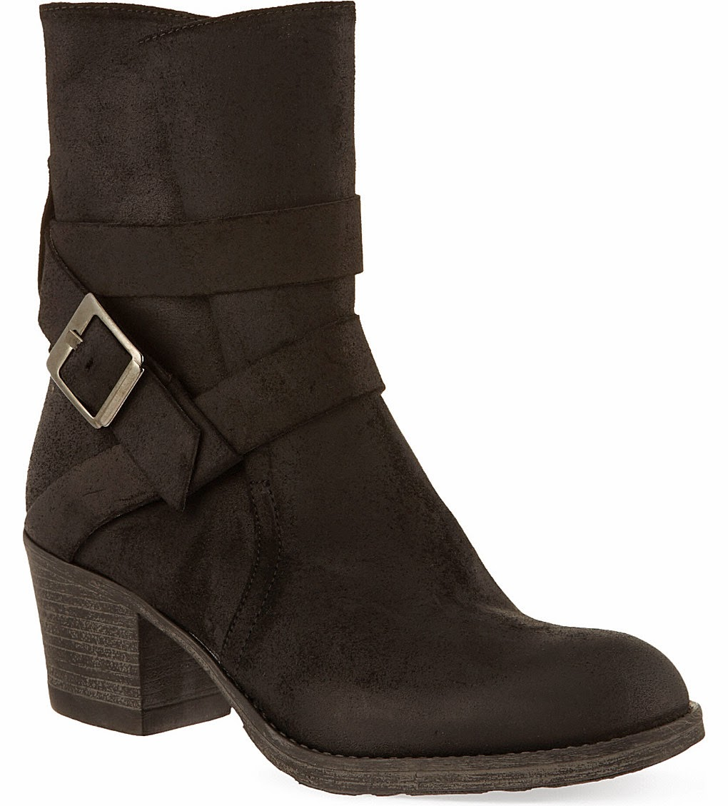 carvel black suede buckle boots