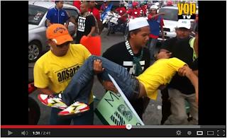 Tragedi Flashmob berdarah INI KALI LAH VS LAIN KALI LAH