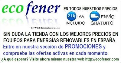 Visita la tienda de equipos para energías renovables de España con los mejores precios.