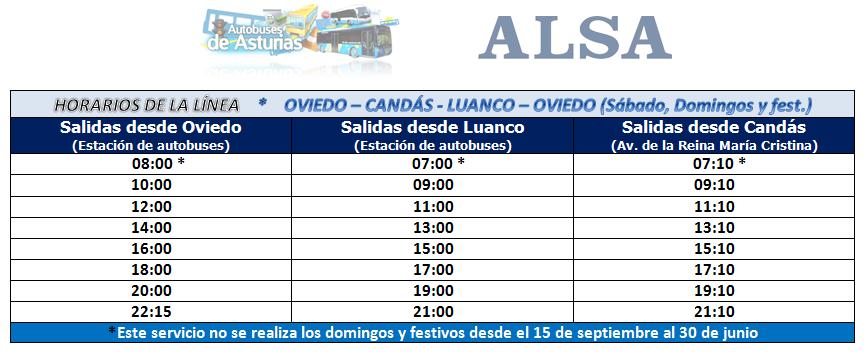 Autobuses de asturias horarios y servicios entre oviedo for Hora de escape oviedo