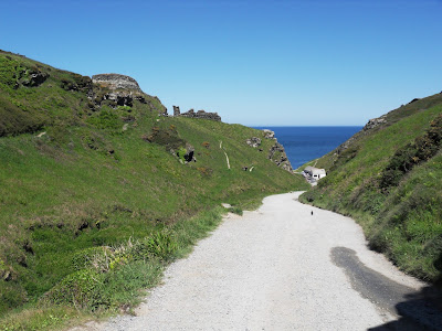 Path leading to The Haven and Tintagel Castle