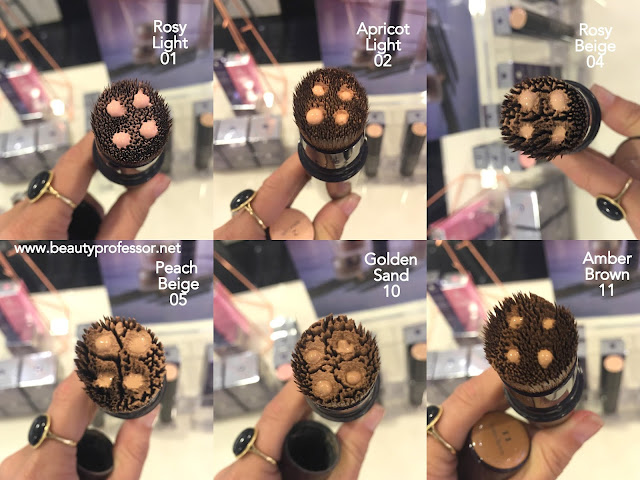 by terry light-expert click brush foundation swatches