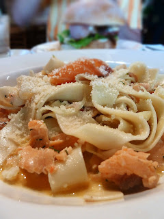 Salmon papardelle image